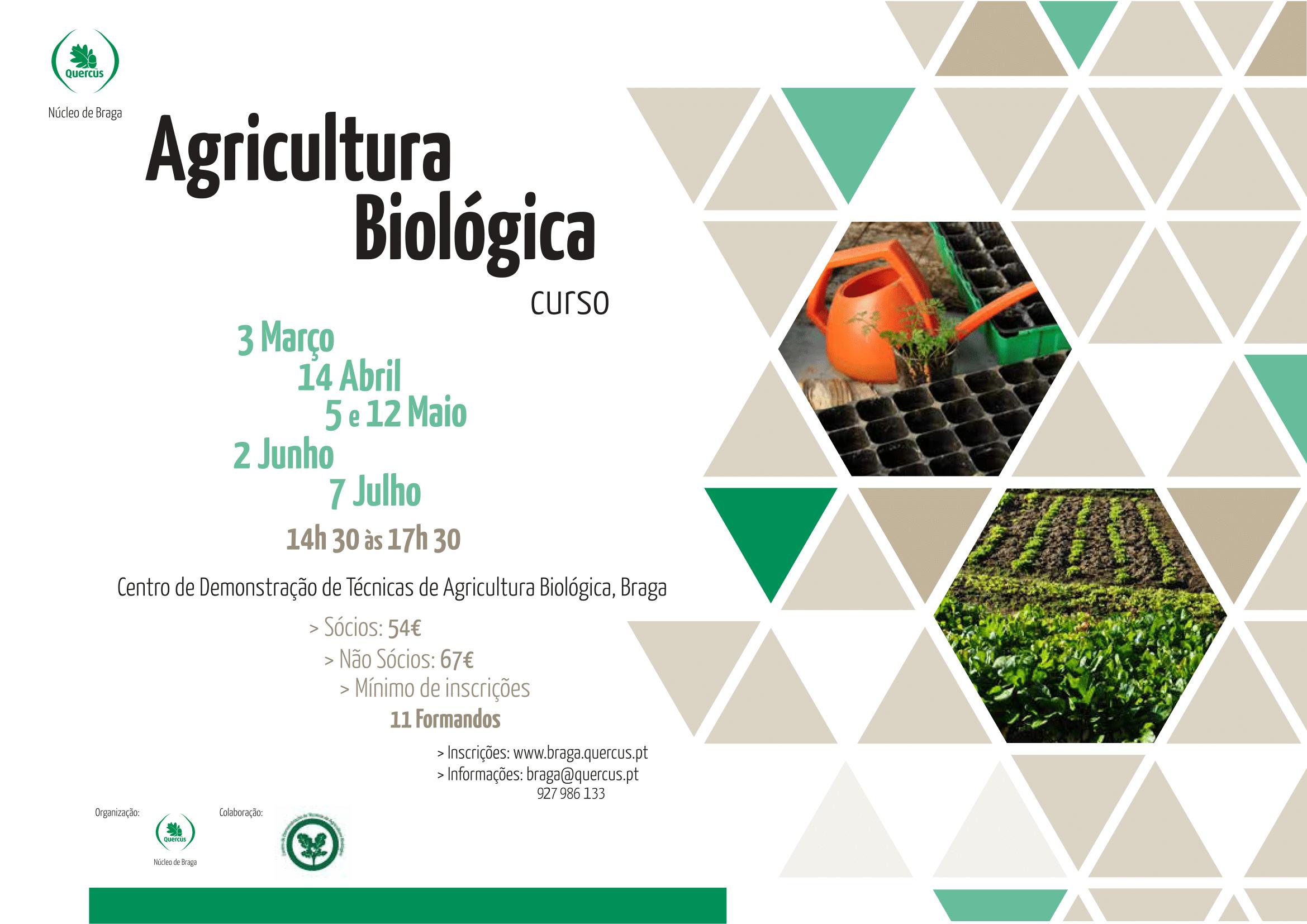 Cartaz Curso de Agricultura Biológica 2018 1